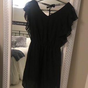 Merona sheer polka dotted sheer midi lined dress